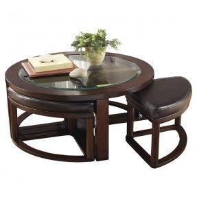 Juego de mesa de centro y taburete Machias de 5 piezas