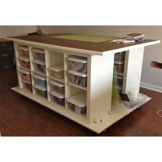 Mesas de trabajo con almacenaje 1