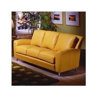 Sofás de cuero amarillo