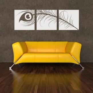 Sofá de cuero amarillo