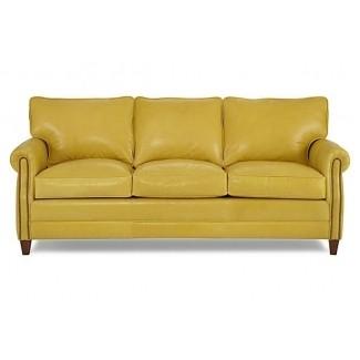 Sofás de cuero amarillo 1