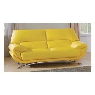 Sofá de cuero amarillo modern brooklyn queens new york manhattan br