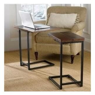 Mesa con bandeja extensible para sala de estar, muebles de mesa lateral lateral decorativa