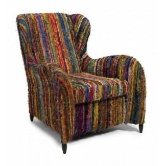 IMAX Adalina Recycled Silk Arm Chair