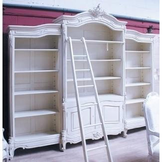Librero, Librero de estilo francés con escalera