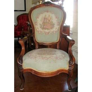 Hermoso sillón victoriano en nogal 1