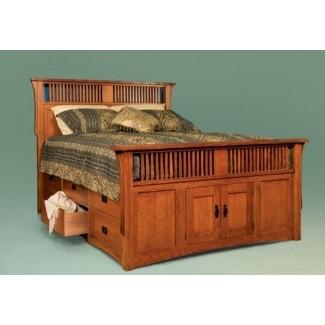 Armazón de cama de roble macizo tamaño king
