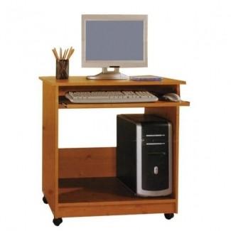 Escritorios de oficina de negocios escritorio de computadora pequeño con ruedas