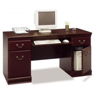 Pequeño escritorio para computadora con cajones 2