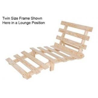 Marco de futón económico de tamaño doble de madera maciza sin químicos
