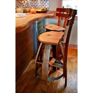 Taburetes de duelas de barril [19659004] Inspirado en barriles de vino, este conjunto de taburetes de bar será apreciado no solo por los amantes del vino. Encaja perfectamente en interiores rústicos o tradicionales, se verá bien tanto en restaurantes como en comedores privados. </p> </p></div> </div> <div class=