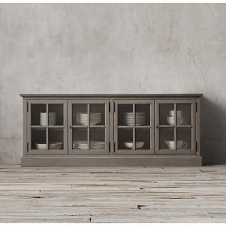 Aparadores y buffets con puertas de vidrio
