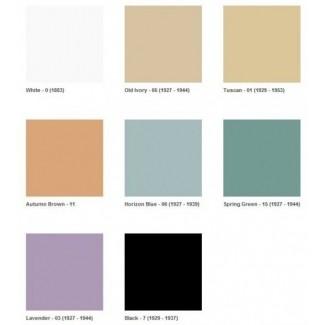 Cronología que muestra los años para todos sus colores, estos colores
