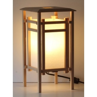 Lámpara de mesa con linterna shoji de estilo japonés