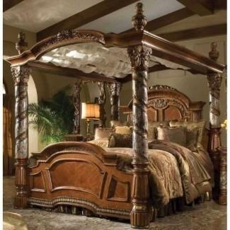 Estructura de cama tamaño king con dosel 1