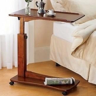 Dormitorio Sala de estar con ruedas, mesita de noche ajustable, mesa de hospital, cama, regazo