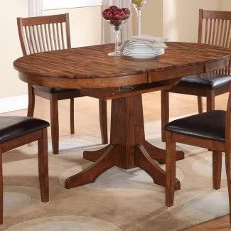 Mesa de comedor extensible de madera maciza de cerezo