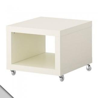 IKEA - LACK Mesa auxiliar con ruedas, blanco