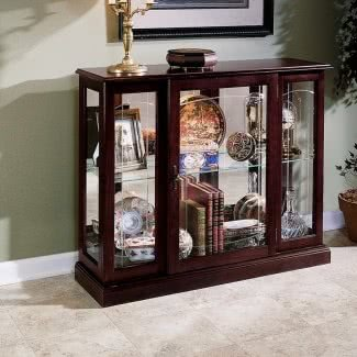 Consola de madera maciza Curio Gabinete