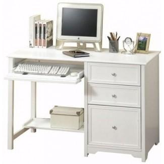 Pequeño escritorio para computadora con cajones