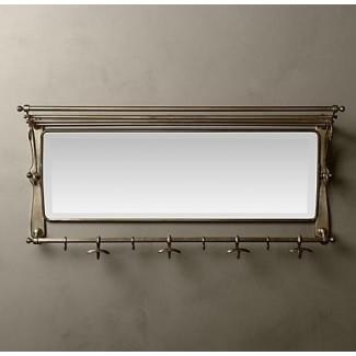 Espejo de pared con ganchos