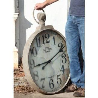 Reloj de pared grande de relojes de bolsillo