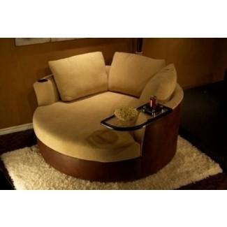 Sofá de dos plazas circular