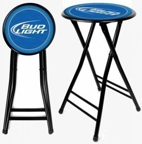 "Taburete de bar Bud Light de 24 ""con cojín"