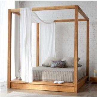 Armazón de cama con dosel de cuatro postes