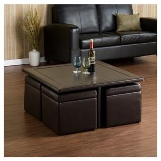 Juego de mesa de café de 5 piezas barton para sala de estar de doble propósito
