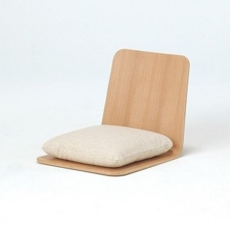 Silla de juego de silla de piso de fresno Muji para ri