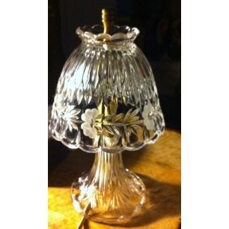 Lámpara vintage de cristal de plomo cortado a mano y