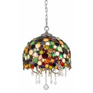 Lámparas de vidrio de colores comedor