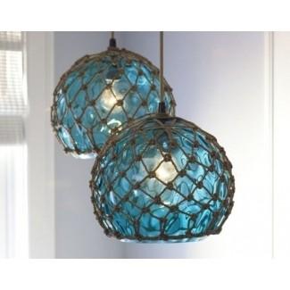 Lámpara colgante colgante de vidrio manchado 1