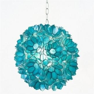 Lámpara colgante colgante de vidrio de colores 2
