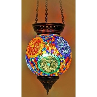 Lámparas colgantes de vidrieras