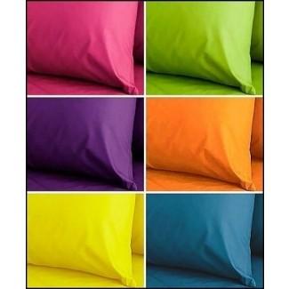 Sábanas de colores brillantes