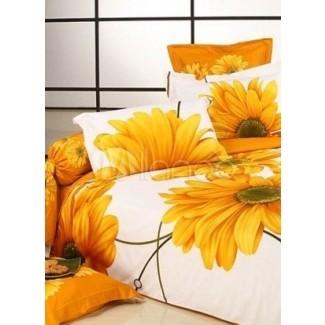 Juegos de cama de colores brillantes le dan un ambiente alegre