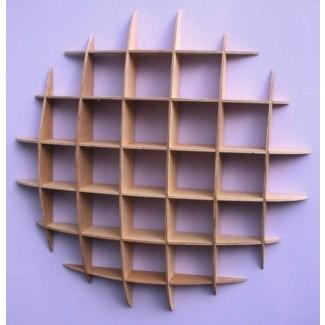Estante de almacenamiento de CD Estantes de pared de estilo retro 55c