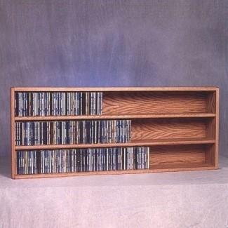 Cobertizo de madera para almacenamiento multimedia de pared de 354 cd serie 300