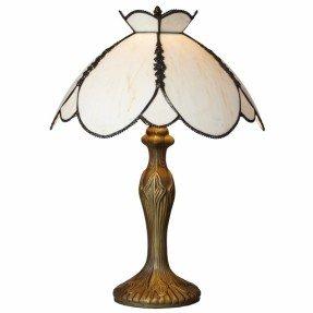 "Lámpara de mesa de vidrio manchado de 17 ""H Downton Abbey con pantalla de cuenco"