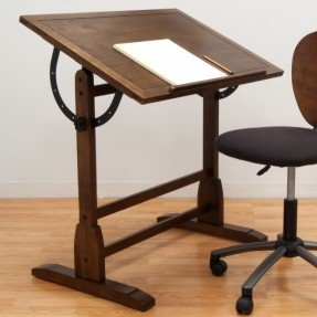 Mesa de dibujo de madera vintage