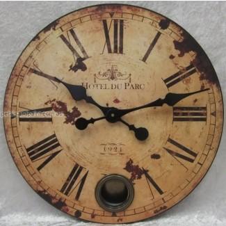 Reloj de pared de péndulo provincial francés country hotel du parc 1921
