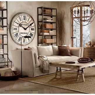Relojes de pared franceses [19659004] Reloj gigante diseñado para montar en la pared. Tiene escudo redondo con acabado antiguo. Funciona con batería y está equipado con números romanos. Acento elegante para la sala de estar, dormitorio y otros interiores según el gusto. </p> </p></div> </div> <div id=