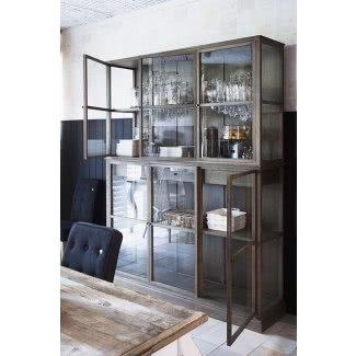 Gabinetes de vidrio para curiosidades de metal
