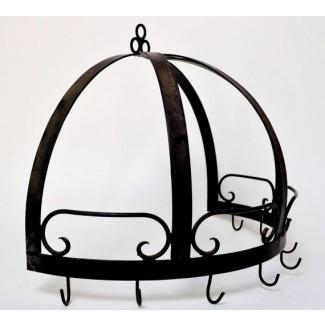Pared de rejilla para ollas de media cúpula de hierro forjado