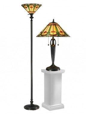Juego de lámpara de mesa y lámpara de pie Quill con pantalla cónica