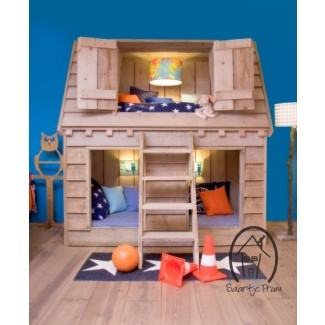 Casa de juegos de madera para interiores 1
