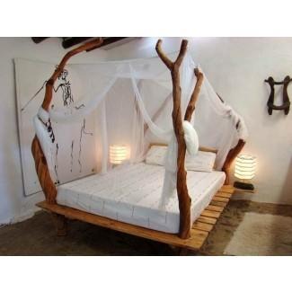 Poste del armazón de cama