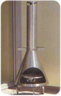 Chimenea exterior de acero inoxidable barbacoa disponible en tamaño pequeño grande 1